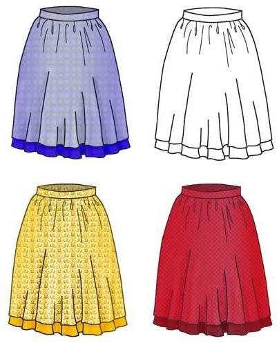 Как создается выкройка летней юбки своими руками