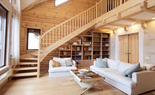 Как создаются интерьеры деревянных домов