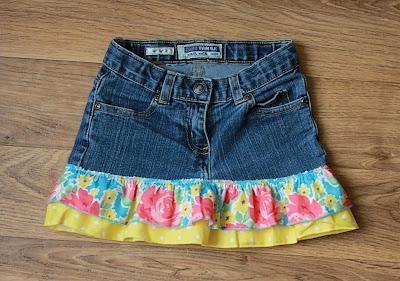 Как сшить юбку из джинсов легко?