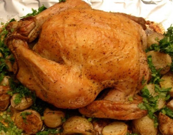 как в духовке запечь картошку с курицей