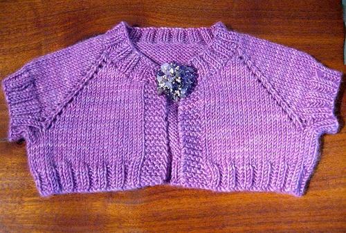 вязание болеро для детей