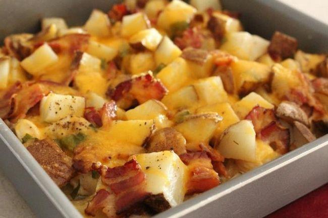 запечь картофель в духовке с курицей
