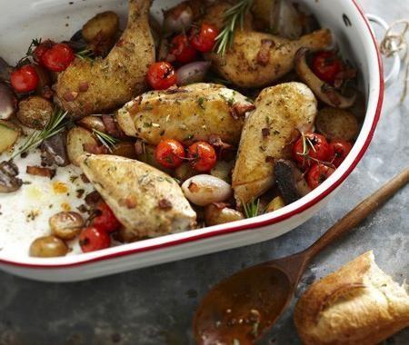 рецепт запеченного картофеля с курицей
