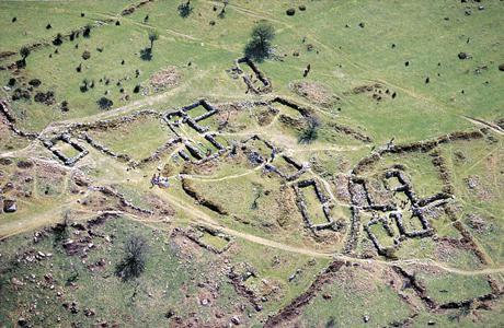 план средневековой деревни
