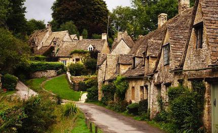 средневековый город и деревня