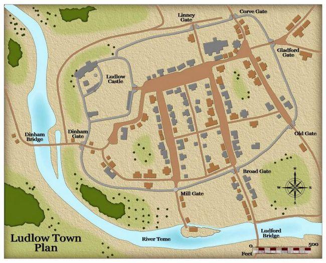 карта средневековой деревни