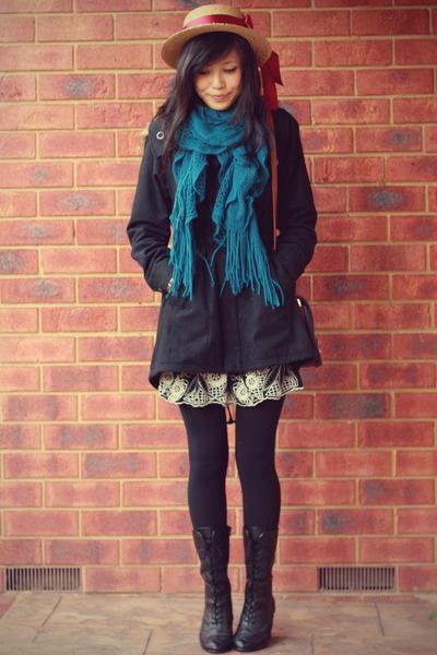 Как завязывать шарфы на пальто