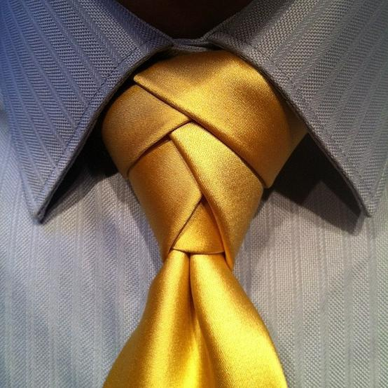 Каким должен быть узел для галстука?