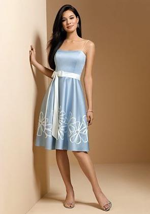 платье средней длины на свадьбу