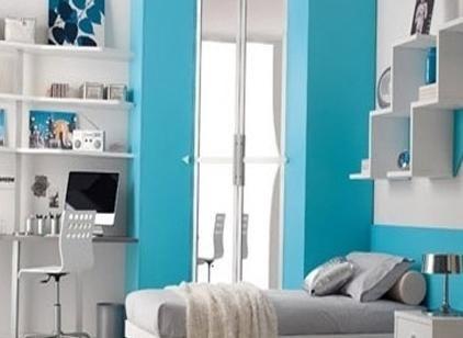 Какой цвет сочетается с голубым и фиолетовым в домашнем интерьере?