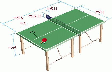 высота теннисного стола