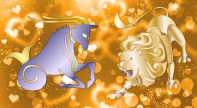 гороскоп лев женщина мужчина козерог