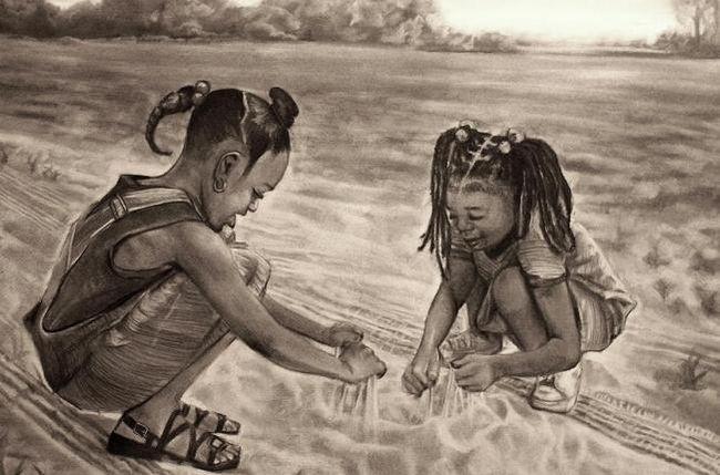 Картина из песка творит чудеса