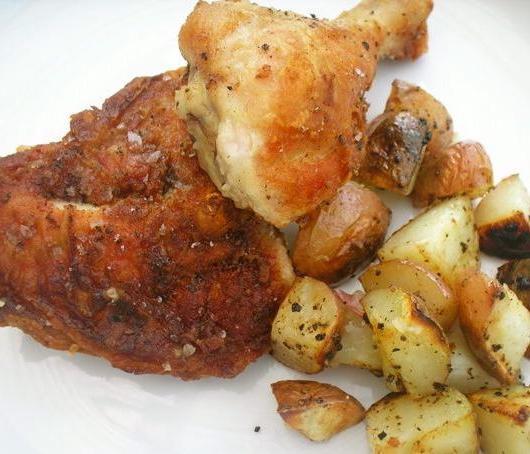 курица с картошкой в духовке в фольге
