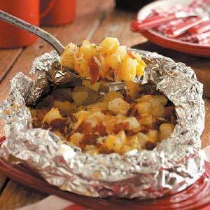 рыба в фольге с картошкой