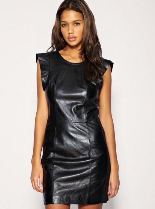 Кожаные платья - самый эффектный наряд для стильной дамы