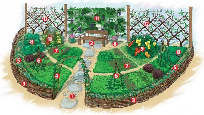 оформление огорода своими руками