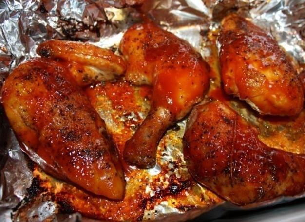 курица жареная в духовке фото