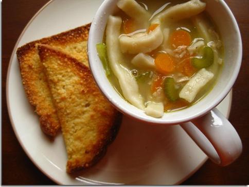 Суп лапша домашняя с курицей