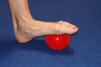 Лечебная гимнастика. Упражнения с мячиком очень полезны при продольном плоскостопии.