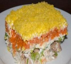 Любимые домашние блюда: салат «мимоза» с сайрой
