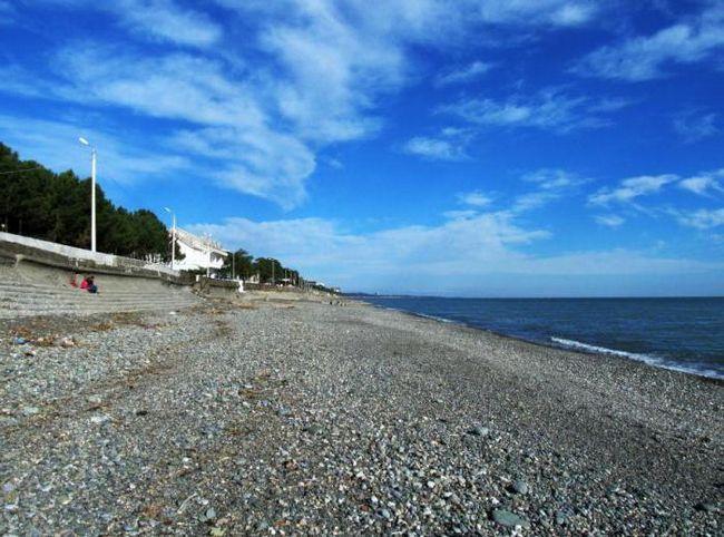 грузия море пляж