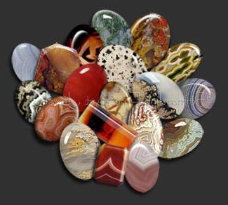 камни агат