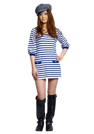 Морской стиль в платьях: изучаем необычные модные тенденции