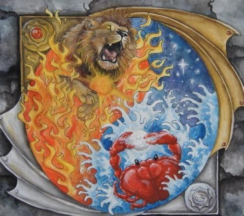 мужчины раки женщины львы