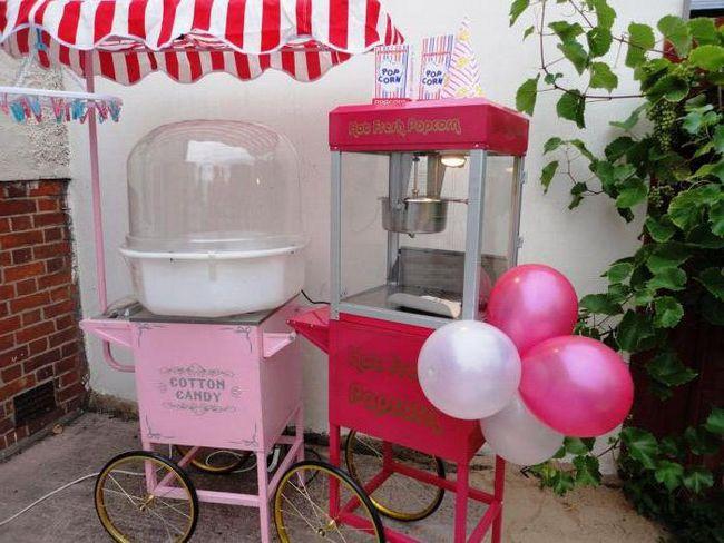 оборудование для приготовления сахарной ваты и попкорна