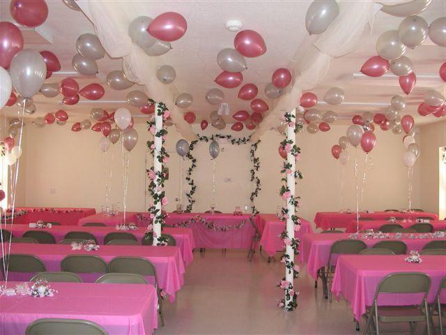 Оформления банкетного зала на свадьбу