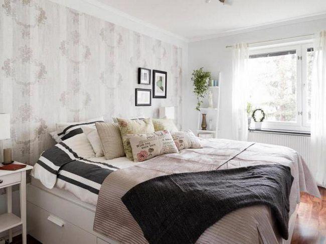 оформление спальни в скандинавском стиле