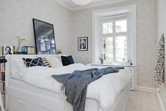маленькие спальни в скандинавском стиле