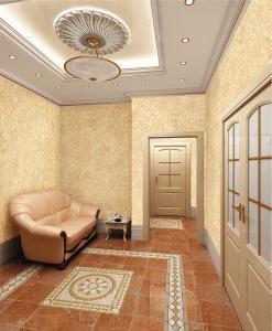 Оформление стен в квартире разными способами