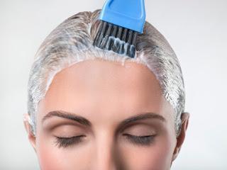 оерашивание седых волос технология