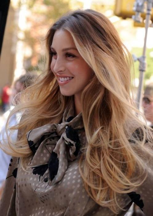 омбре на светлых волосах фото