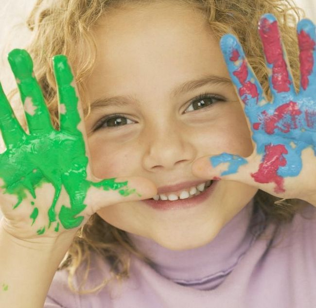Пальчиковые краски для малышей – подспорье юным художникам