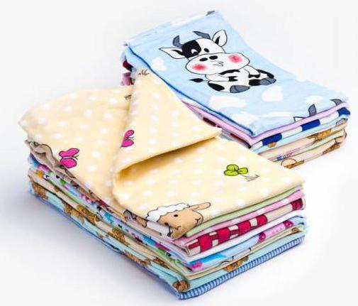 размер фланелевых пеленок для новорожденного