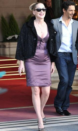 шэрон стоун в винтажном платье