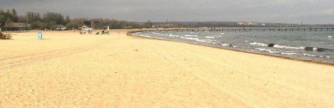 белый пляж анапа