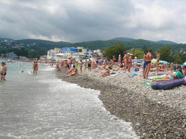 лазаревское песчаный пляж