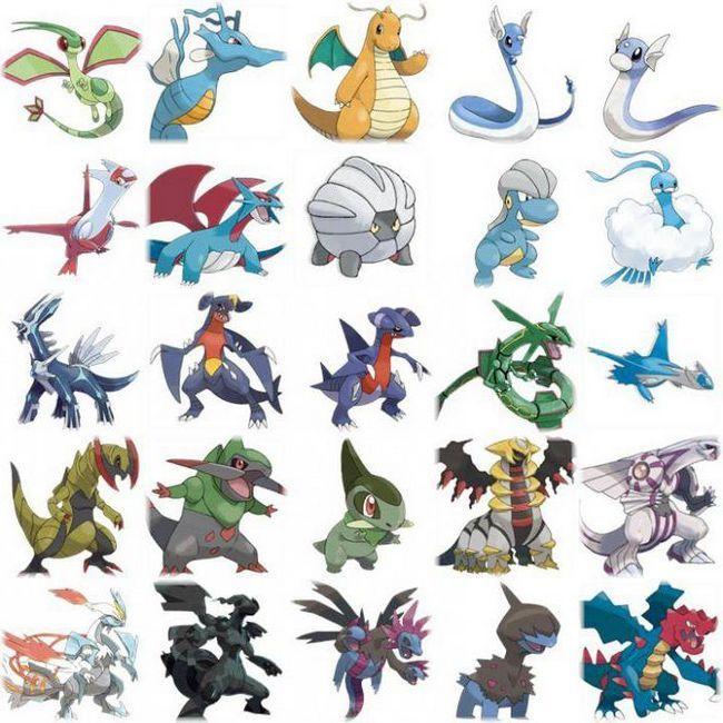 покемоны драконы список