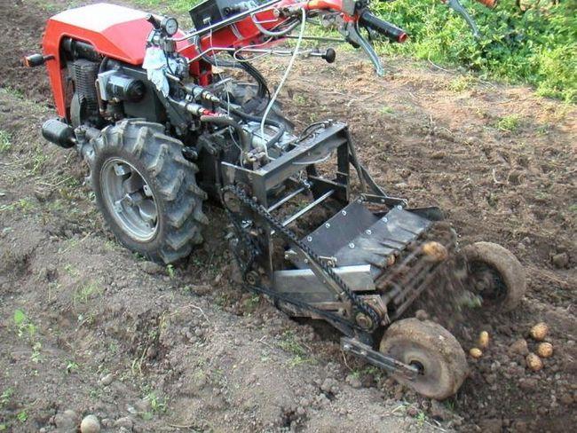 Полезное приобретение для огорода - картофелекопалка для мотоблока