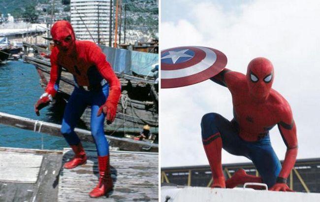 Популярные супергерои из фильмов в прошлом и сейчас