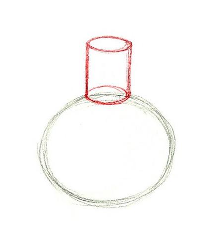 Пошагово учимся, как нарисовать вазу