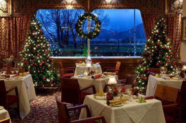 празднование нового года в ресторане