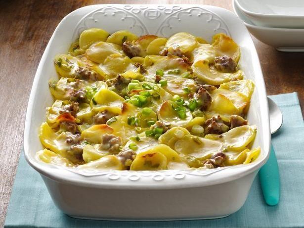 рецепт мясо в духовке с картошкой