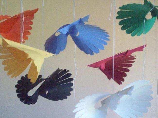 Птицы из бумаги как символ счастья в вашем доме