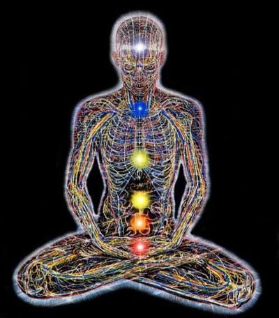 расположение чакр на теле человека