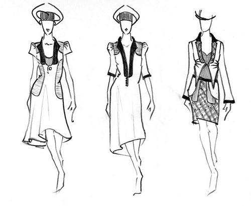 Рассмотрим, как нарисовать платье